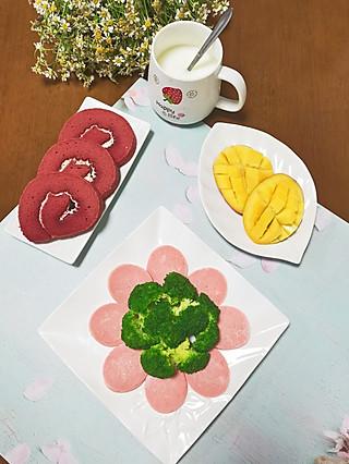 早餐~红丝绒蛋糕卷