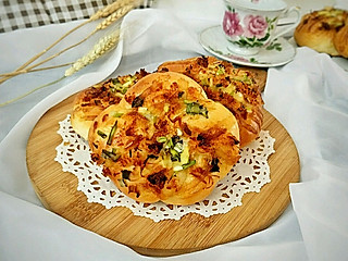 糖小田yuan的在家就可以轻松制作的葱香肉松软面包,学会再也不用去店里买啦!