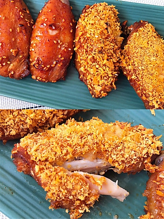 佳佳的小食记的不加一滴油的【脆皮酱烤鸡翅】皮脆肉嫩只需3⃣️步
