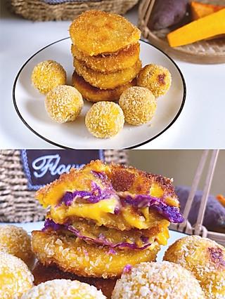 honey啊清清的会爆浆的紫薯南瓜饼‼️跟我学了吃一次就会爱上!!