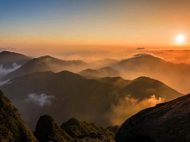 华南第一峰,有木有大片的感觉😄,4点起床看日出,美丽冻人图4