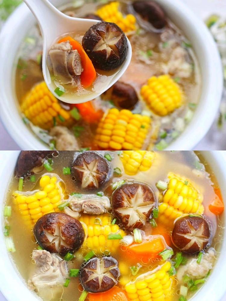 连喝三碗都不够🔥香菇玉米胡萝卜排骨汤😋 营养健康又鲜美‼图3