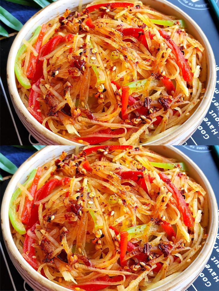 一般这样做的土豆丝,都不用炒,酸辣爽口开胃图2