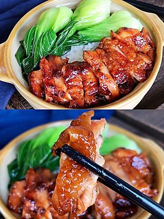 Lincf_v的🔥不用一滴水❗️用一口平底锅就能轻松搞定的蜜汁鸡腿排,口感