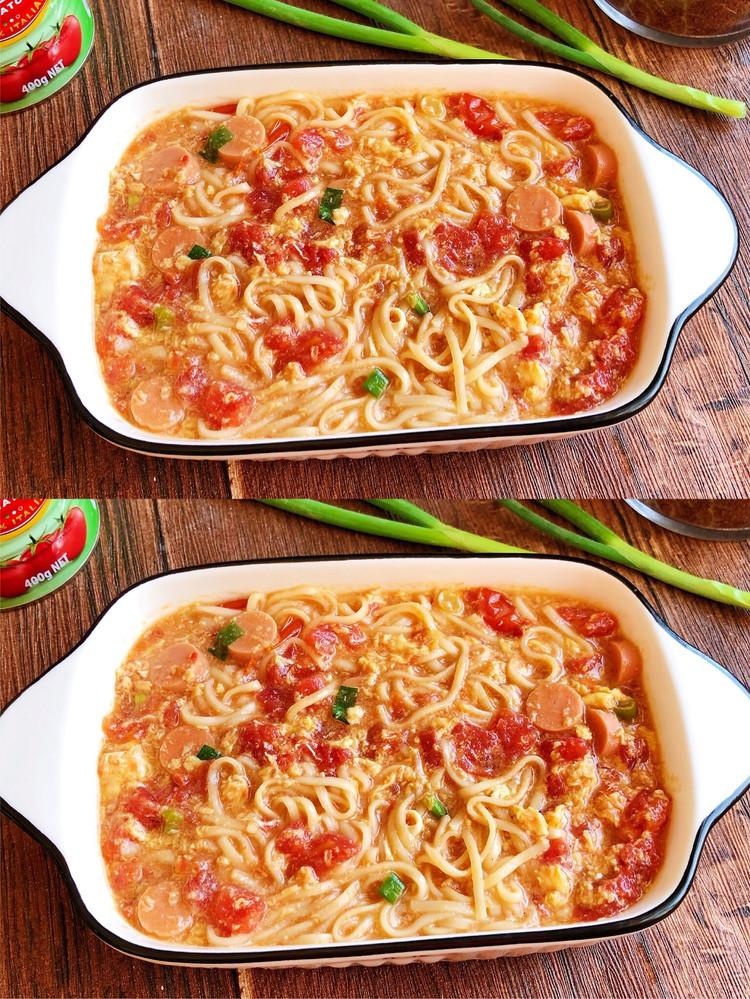 🌈10分钟快手早餐 简单巨好吃的番茄浓汤面图2
