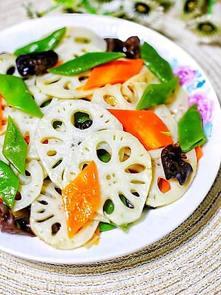 西蘭的⭕️低脂营养‼️清爽美味的荷塘小炒🔥做法简单✨好吃不胖👇
