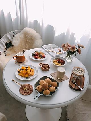 coco的厨房的早餐分享|麻薯面包教程