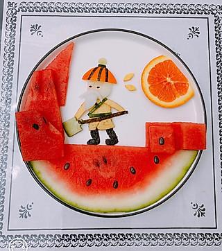 心的早餐的果拼成语故事:《愚公移山》