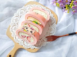 铿锵玫瑰甜甜妈妈的彩绘卡通小兔子蛋糕卷