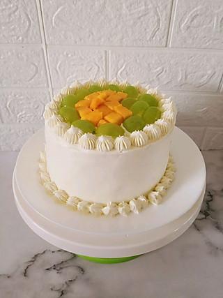 北纬yhz的抹面手残党给老妈做的水果蛋糕#无水果不夏天