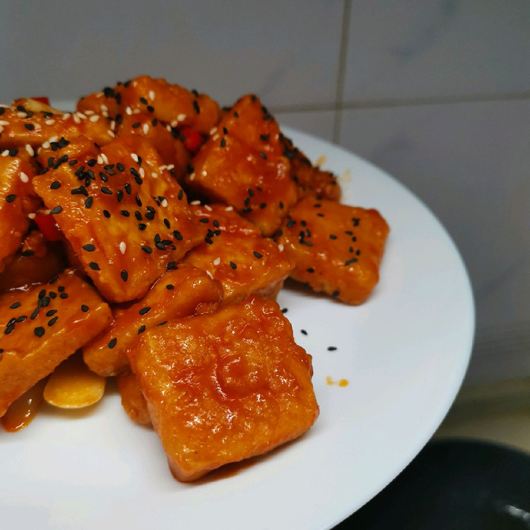 男孩子的厨房日记-糖醋脆皮豆腐图3