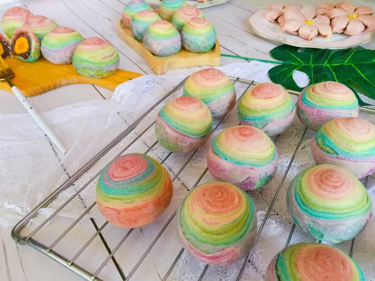 用爱划一道彩虹!颜值高的彩虹酥,螺旋酥,五彩酥,你吃过了吗?图4