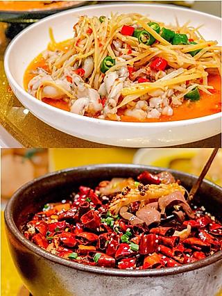 标爷吃光上海的金碧辉煌的孔雀🦚餐厅🍴红彤彤~