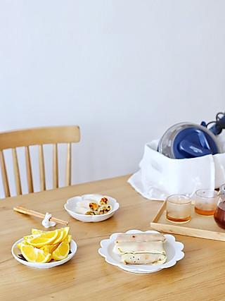 流浪的喵喵小姐的喵の早餐 | 七色减脂饼⑦原色  土豆丝卷饼