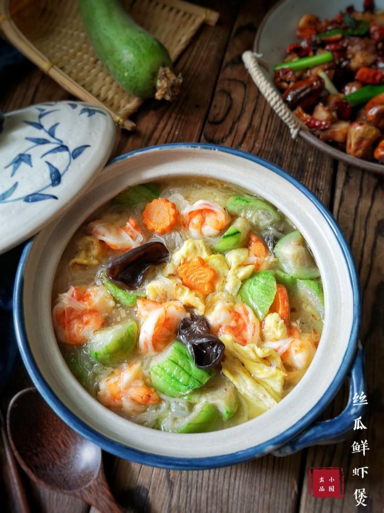 鲜香味美的丝瓜鲜虾煲,全家都爱吃的营养家常美味!图1