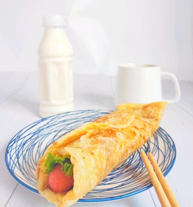 秒杀所有地摊货-早餐简易版的鸡蛋灌饼(手抓饼版)图1