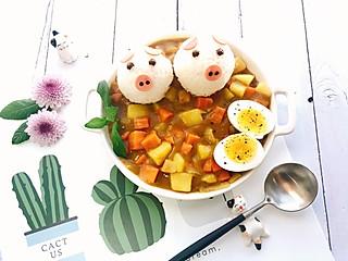 天蝎麻麻的🐽胡萝卜土豆咖喱饭……
