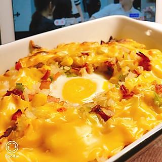 鸡蛋芝士焗饭