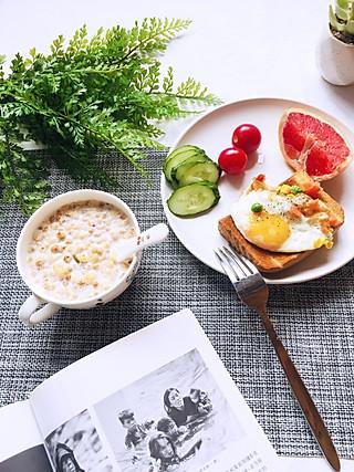 小蟹妹的🌞减肥早餐--今天有新的事情发生,希望自己一切顺利💪