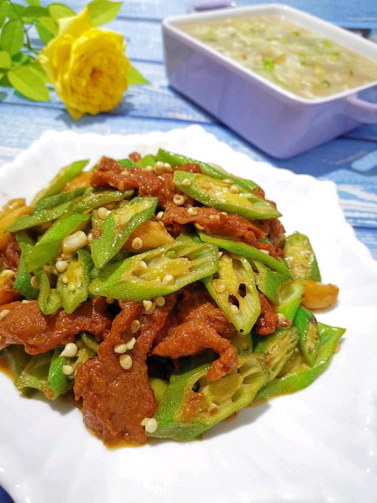 土豆丝疙瘩汤、秋葵牛柳图2