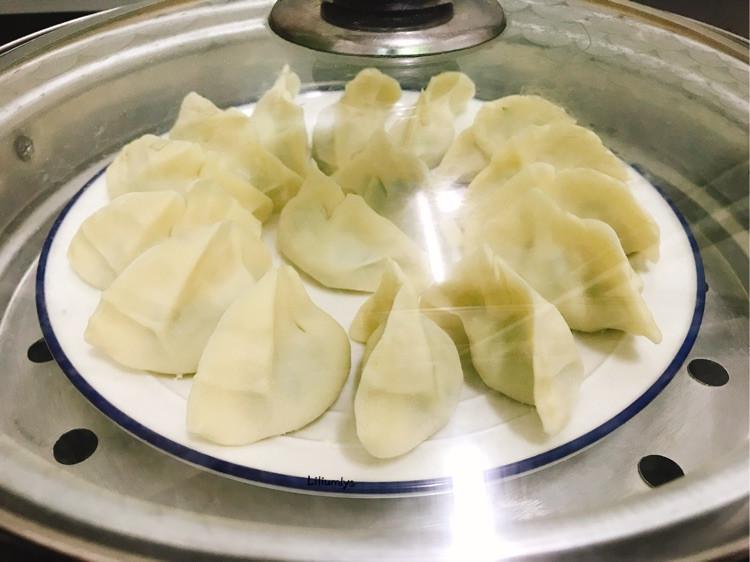 """时令萝卜缨素馅蒸饺,蒸的好吃味鲜美!#""""蒸""""功夫美食大赛#图8"""