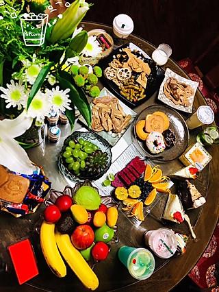 筝上神的家居版下午茶🍵来一组😅😅减肥的人不吃晚餐~嘿嘿~