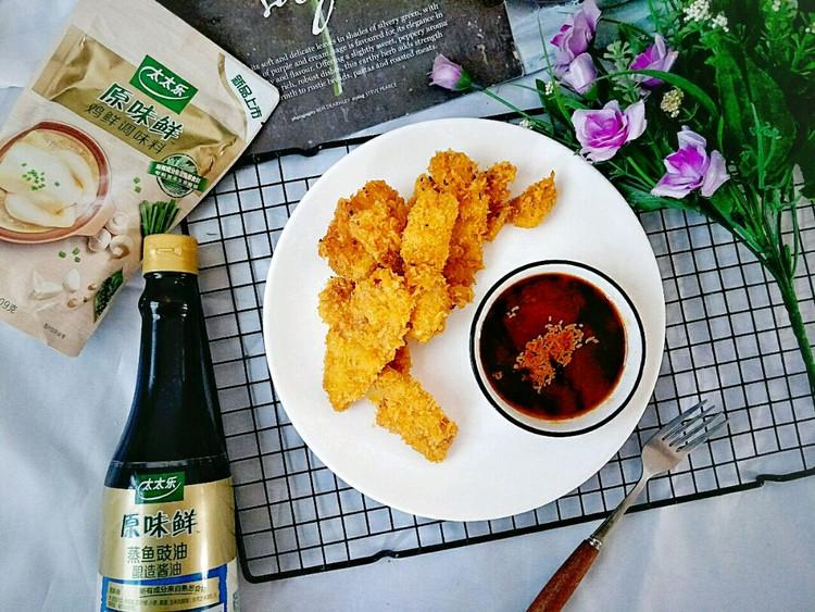 外焦里嫩口感丰富的炸鸡胸肉,蘸酱更美味,快来品尝啦~图2