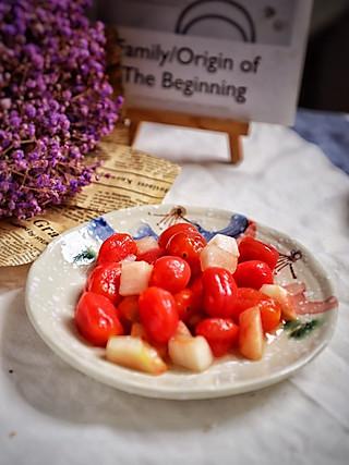 羽翙的贪吃小厨房的零失败少女专属零食小甜品:蜜桃渍小番茄,学不会我养你😘
