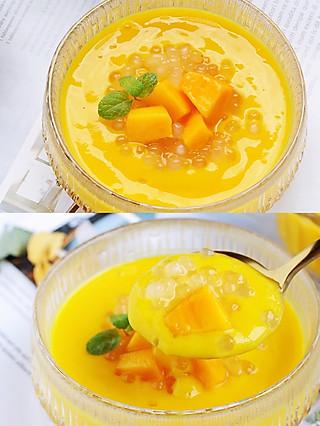 风意画的自制好吃不发胖的芒果西米露,秒杀满记甜品!