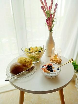 清露风荷的微凉,初秋的早餐☀