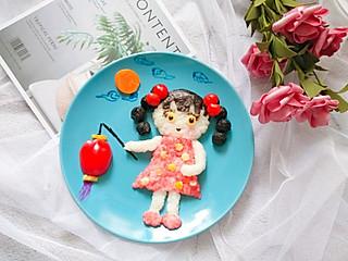 铿锵玫瑰甜甜妈妈的提着灯笼的可爱女孩