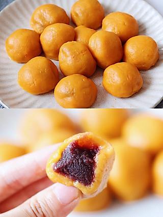 君子恩的Q弹的豆沙红薯丸子,甜甜蜜蜜巨好吃!