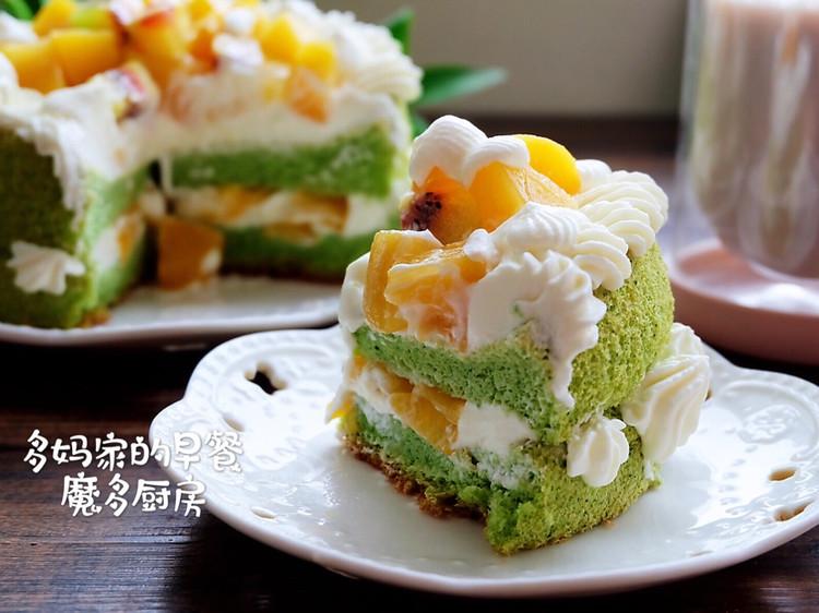 菠菜戚风水果裸蛋糕图3