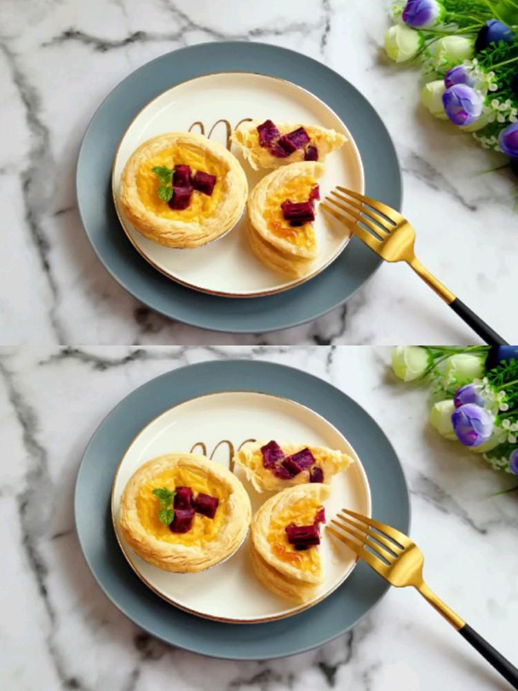 紫薯和蛋挞的完美搭配–紫薯蛋挞👍👍👍图1