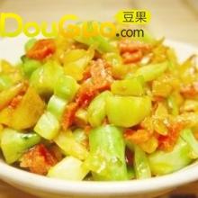 酸萝卜菜头炒肉末的做法