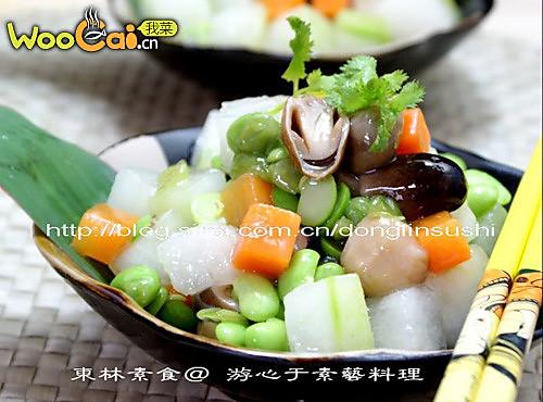 毛豆子炒冬瓜的做法