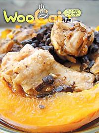 南瓜豆豉腐乳鸡的做法
