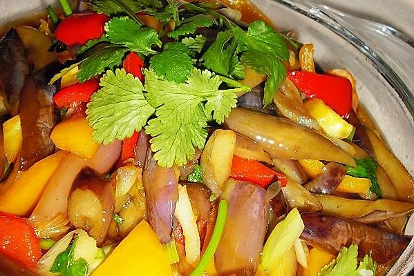 彩椒杭茄--美丽厨娘的做法