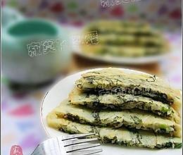 紫菜豆芽煎饼--户外美食的做法