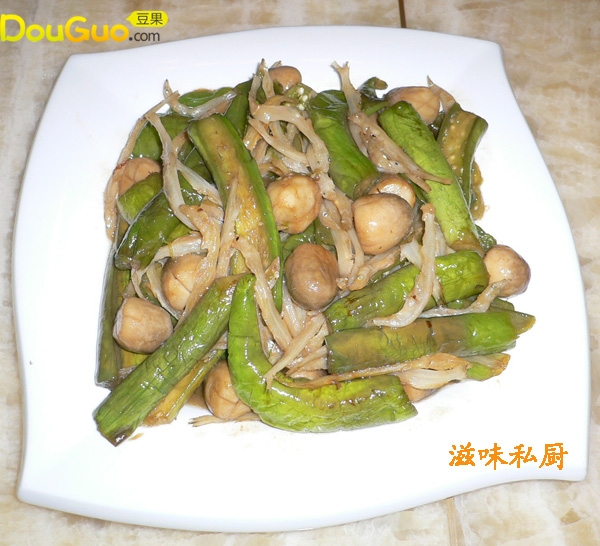 草菇银鱼烩秋茄的做法