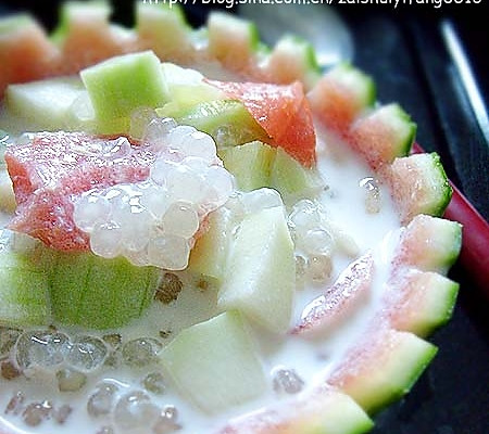 清凉美味甜品之王------什果西米露的做法