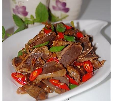 五香杭椒鸭胗-----无辣不欢族的下饭下酒菜的做法