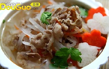 萝卜丝羊肉清汤的做法