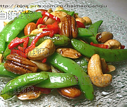 果仁甜豆:可口的风味素食的做法