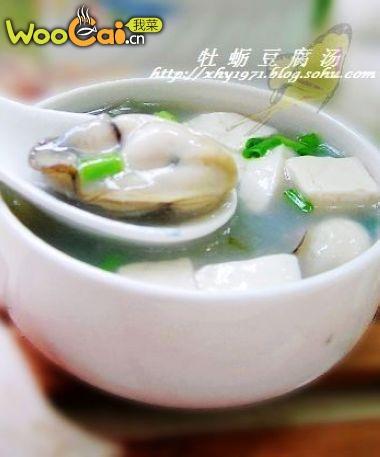 牡蛎豆腐汤的做法