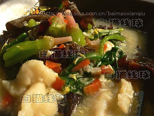 菠菜疙瘩汤的做法