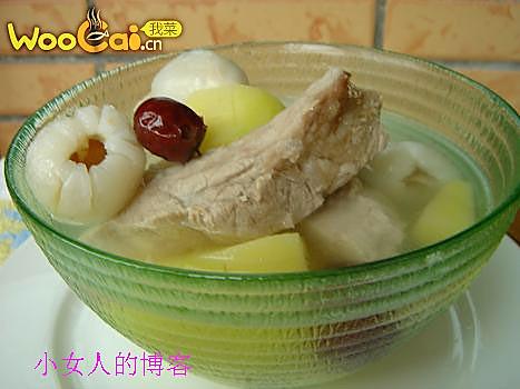 夏日瘦身汤 荔枝红枣的做法