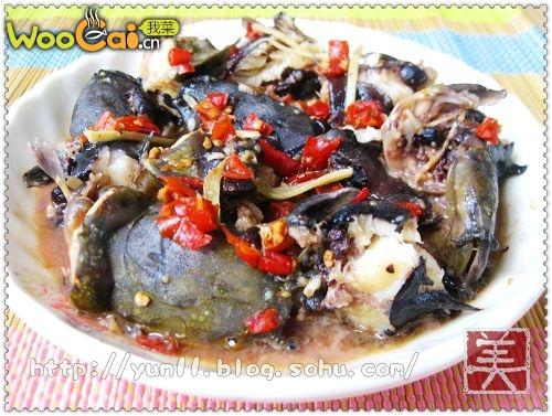 蒜蓉豆豉蒸塘鲺的做法