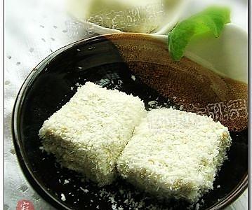 抹茶雪花糕的做法