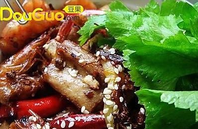 干锅排骨香辣虾 的做法